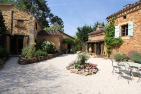 19th century converted barn with gite, 2 swimming pools and 1ha