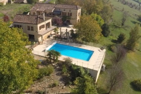 Attractive country house with gite and swimming pool