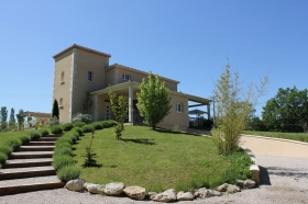 Attractive contemporary house with swimming pool, annexe and 7.5ha
