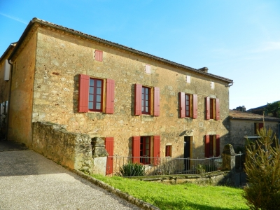 Attractive 19th century village house with gite and studio