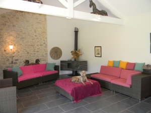 Renovated farmhouse with 12ha, gite and vineyard