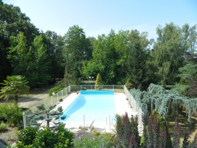 Attractive périgourdine style house with swimming pool and large garden