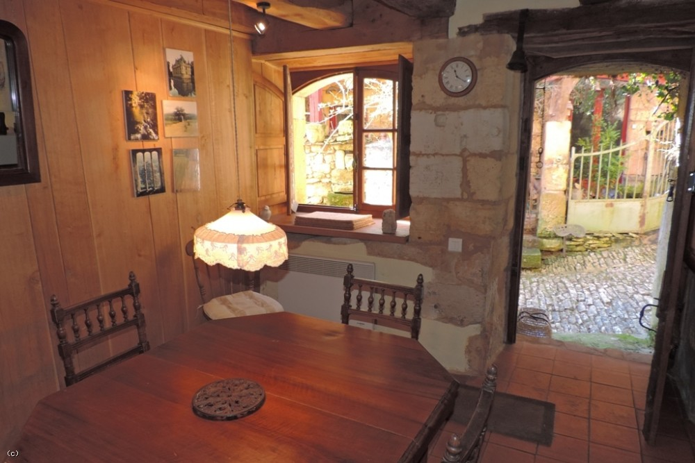 Sympathetically restored 13th century village house